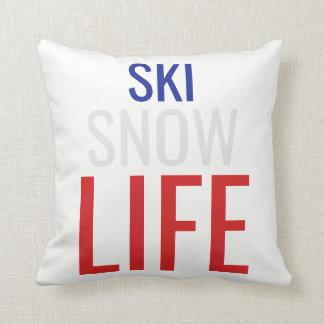 Cojín Decorativo Esquí, nieve, vida