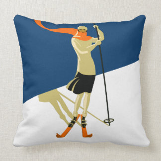 Vintage Design Woman Skier