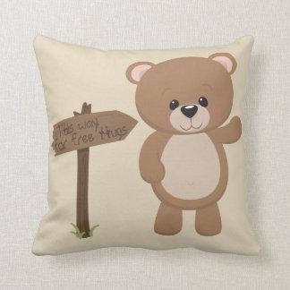 Cojín Decorativo Esta manera gratis abraza el oso de peluche