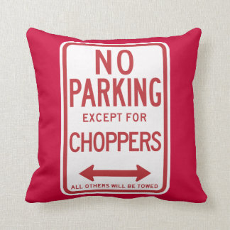 Cojín Decorativo Estacionamiento prohibido a excepción de la