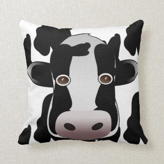 Cojín Decorativo Estampado de animales blanco y negro de la vaca