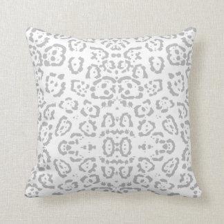 Cojín Decorativo Estampado de animales gris del gato de onza