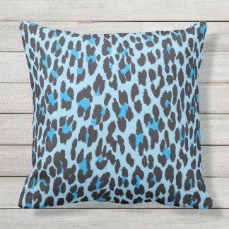 Cojín Decorativo Estampado de animales, puntos del leopardo - negro