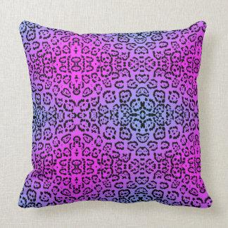 Cojín Decorativo Estampado de animales púrpura de neón del gato del
