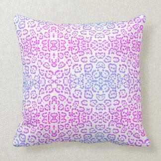 Cojín Decorativo Estampado de animales púrpura rosado 2 del gato de