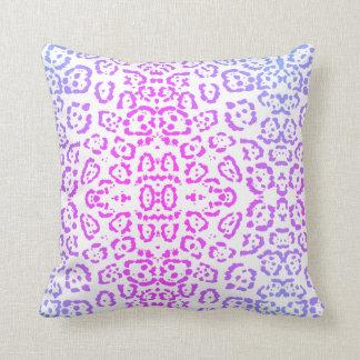 Cojín Decorativo Estampado de animales púrpura rosado del gato de