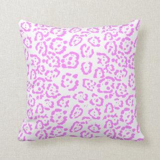 Cojín Decorativo Estampado de animales rosado de neón del guepardo