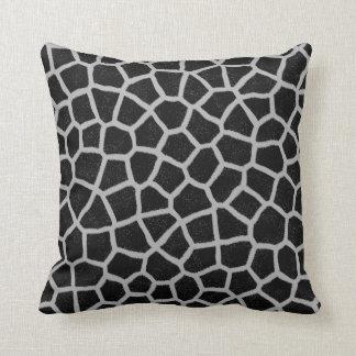 Cojín Decorativo Estampado de girafa blanco y negro