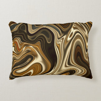 Cojín Decorativo Estilo de mármol magnífico - marrón caliente