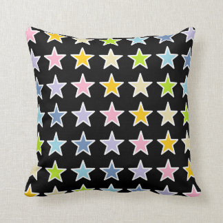Cojín Decorativo Estrellas en colores pastel resumidas blanco del