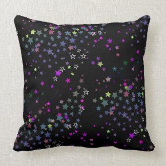 Cojín Decorativo Estrellas mágicas, negro, Stardust