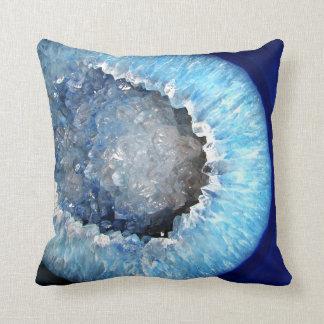 Cojín Decorativo Falln Geode cristalino azul