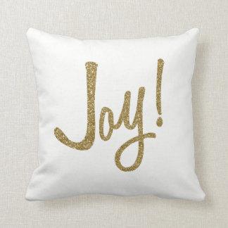 Cojín Decorativo Falsa alegría del oro del brillo