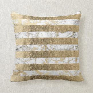 Cojín Decorativo Falsas rayas sofisticadas elegantes del mármol del
