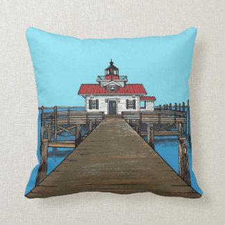 Cojín Decorativo Faro-almohada de los pantanos de Roanoke