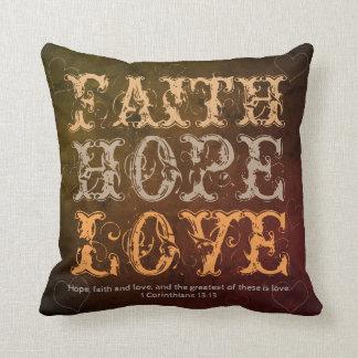 Cojín Decorativo Fe, esperanza y amor