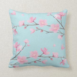 Cojín Decorativo Flor de cerezo - azul de cielo
