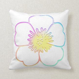 Cojín Decorativo Flor Painterly de la falsa acuarela en colores