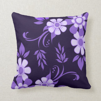 Cojín Decorativo Floral violeta púrpura