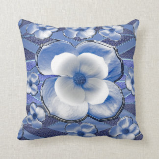 Cojín Decorativo Flores azules del Dogwood