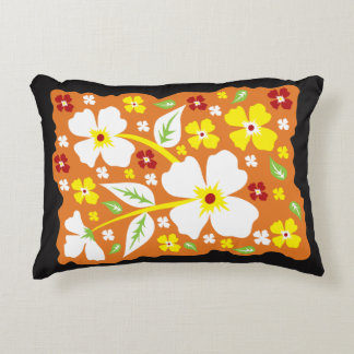 Cojín Decorativo Flores en el naranja