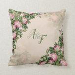 Cojín Decorativo Forre el verde del jardín - regalo de boda rosado