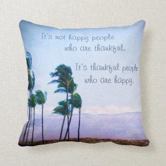 Cojín Decorativo Foto de las palmeras de Hawaii de la cita de la