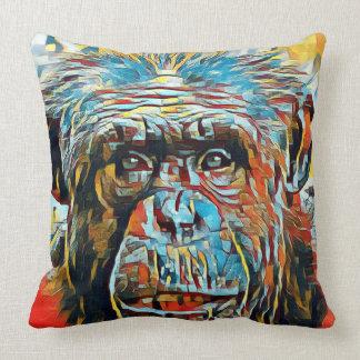 Cojín Decorativo Fotografía de Digitaces del arte pop del chimpancé