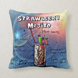 Cojín Decorativo Fresa Mojito