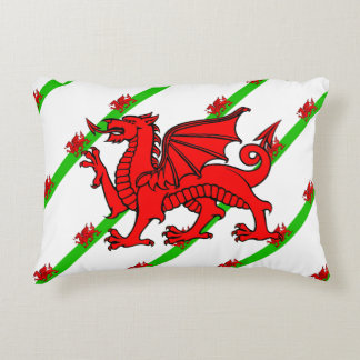 Cojín Decorativo Galés raya la bandera
