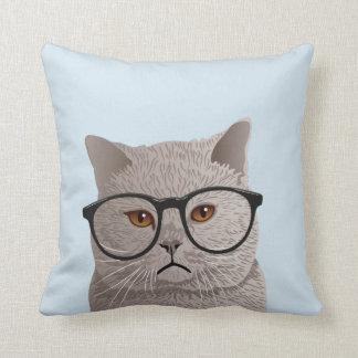 Cojín Decorativo Gato británico de Shorthair del inconformista