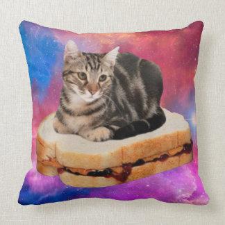 Cojín Decorativo gato del pan - gato del espacio - gatos en espacio
