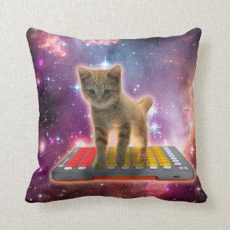 Cojín Decorativo gato del teclado - gato de tabby - gatito