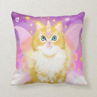 Cojín Decorativo Gato del unicornio