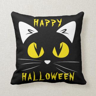 Cojín Decorativo Gato negro lindo del feliz Halloween