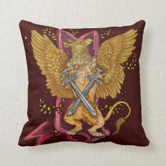 Cojín Decorativo Gryphon místico con las espadas