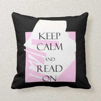 Cojín Decorativo Guarde la calma y siga leyendo