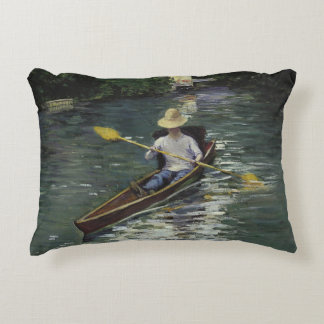 Cojín Decorativo Gustave Caillebotte - canoa en el Yerres