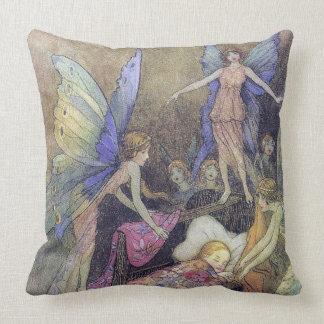 Cojín Decorativo Hadas que cantan al bebé para dormir bella arte de