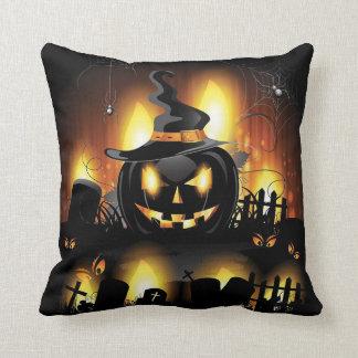 Cojín Decorativo Halloween - calabazas asustadizas w/Hat