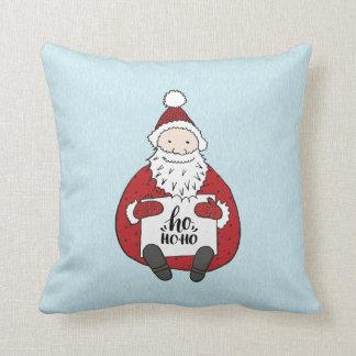 Cojín Decorativo Ho ho ho navidad lindo del dibujo de Santa