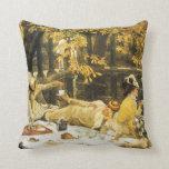 Cojín Decorativo Holyday, el picnic de James Tissot, arte victorian