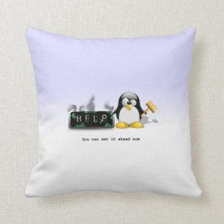 Cojín Decorativo Horario de verano anti del pingüino divertido