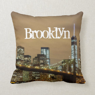 Cojín Decorativo Horizonte del puente de Brooklyn
