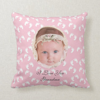 Cojín Decorativo Huellas del bebé, foto, personalizado,