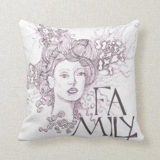 Cojín Decorativo Imagen de Abstrat de una señora con la familia del