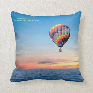 Cojín Decorativo Imagen del globo del aire caliente para los