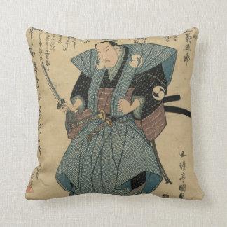 Cojín Decorativo Imagen japonesa del vintage del actor en papel del
