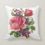Cojín Decorativo Imagen-rosas y violetas del Victorian