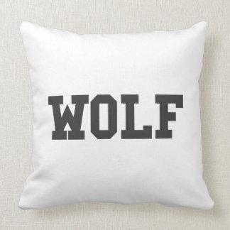 Cojín Decorativo Impresión agradable del lobo